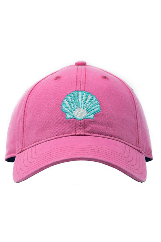 Kids Scallop Needlepoint Bright Pink Hat