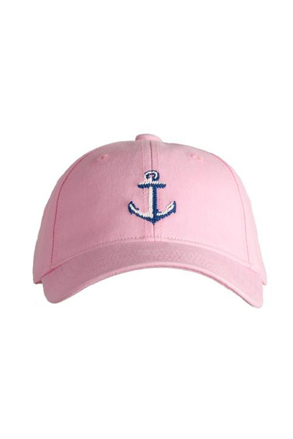 Kids Anchor Needlepoint on Light Pink Hat
