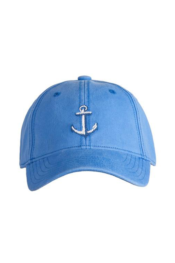 Kids Anchor Needlepoint on Periwinkle Hat