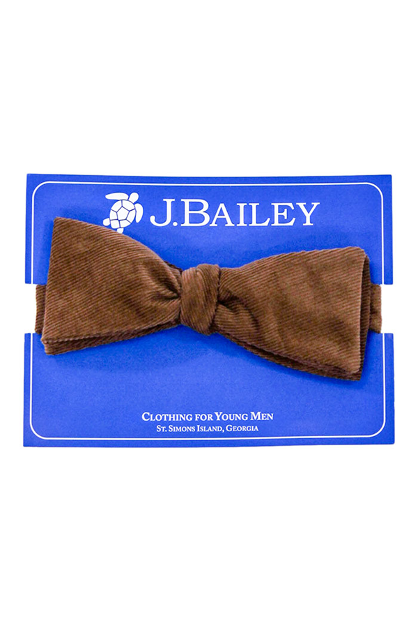 Chocolate Cord Johnny Bow Tie