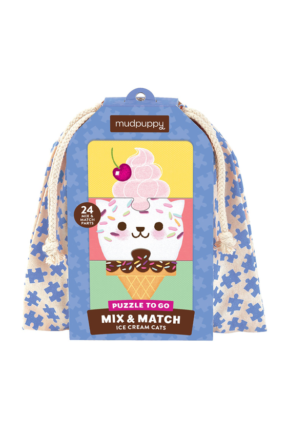 Ice Cream Cats Mix and Match Puzzle To Go