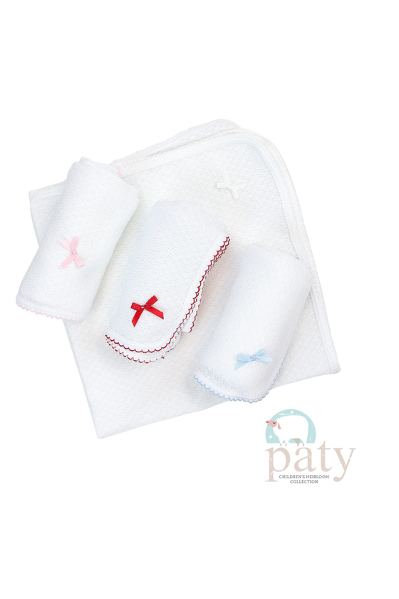 Swaddling Blanket with White Trim