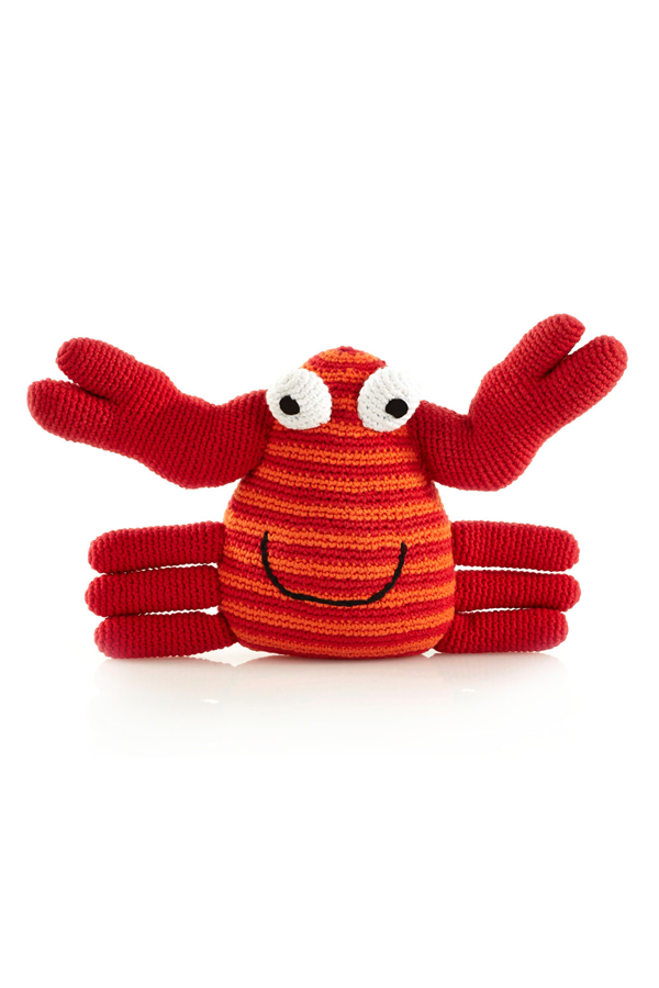 Hand-Knit Crab