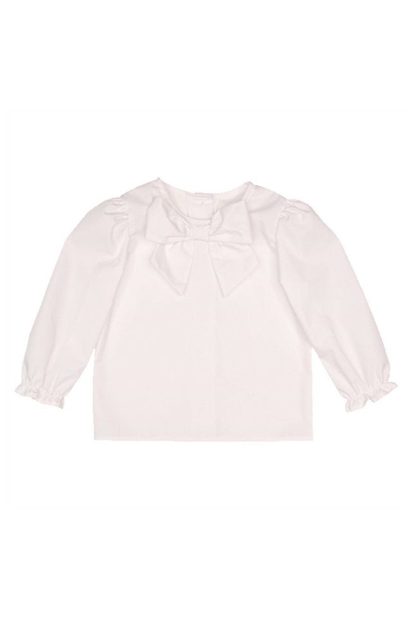 Beatrice Bow Blouse - Worth Ave White
