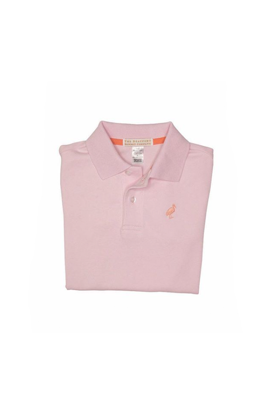 Prim and Proper Polo Plantation Pink with Seashore Sherbert Stork