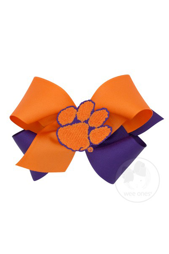 Clemson University Two-Toned Bow - King