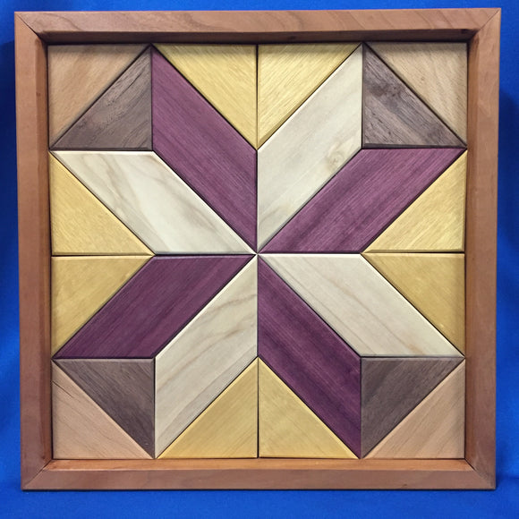 Wooden Quilt Squares - Made by Ron Bruner