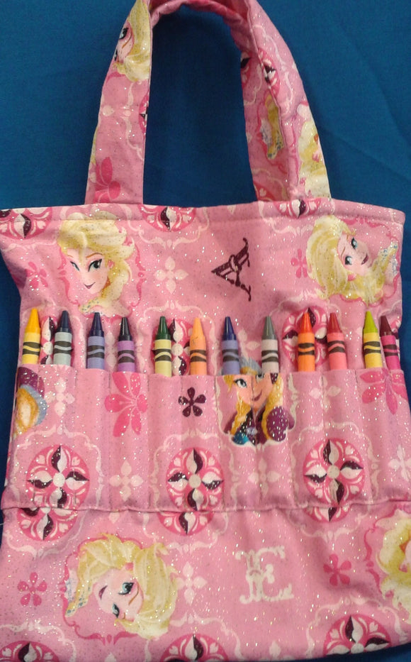 Crayon Tote Bag - Frozen - Millers Wood & Fabric Crafts