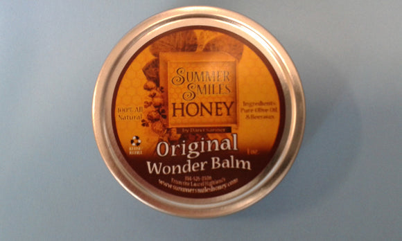 Original Wonder Balm New 1 oz. size  made by Summer Smiles Honey Farm