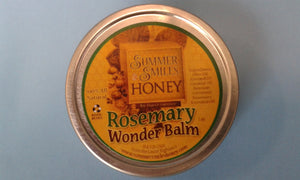 Rosemary Wonder Balm New 1 oz. size made by Summer Smiles Honey Farm
