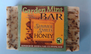 Garden Mint Soap made by Summer Smiles Honey Farm