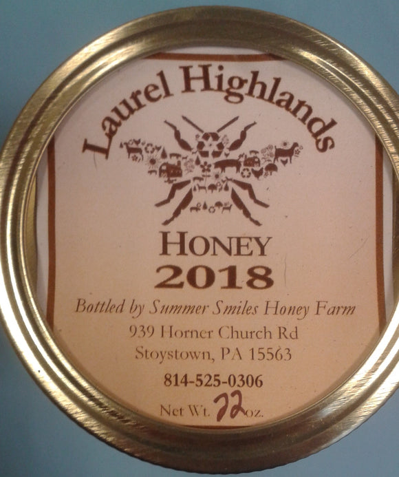 Summer Smiles Raw Honey 1 Pint - Summer Smiles Honey Farm