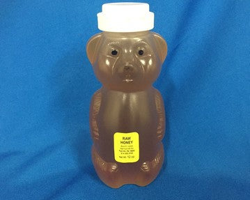 100% Pure Raw Honey - Squeezable Bear 12 oz. made by Alvin E. Leslie