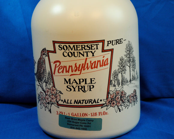 Maple Syrup - 1 Gallon -  in Plastic Containers - Med Amber - Grade A