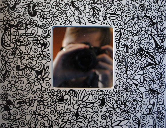 Handmade Zenmind Mirror - Black & White - Kimberly Fagan