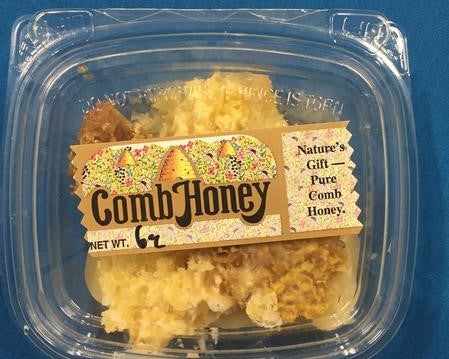 Fresh Natural Honeycomb made by Summer Smiles Honey Farm