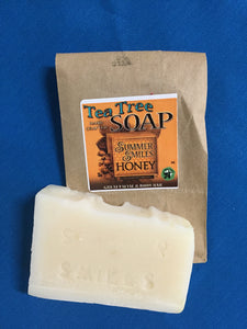 Tea Tree Soap made by Summer Smiles Honey Farm