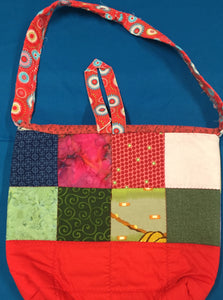 Red Quilted Purse Tote made by Brenneman's Quilt & Sew