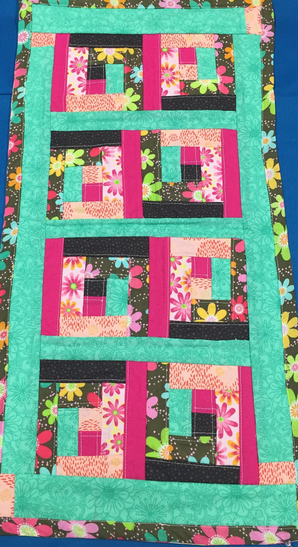 Green Paisley Quilted - Small Table Runner made by Brenneman's Quilt & Sew