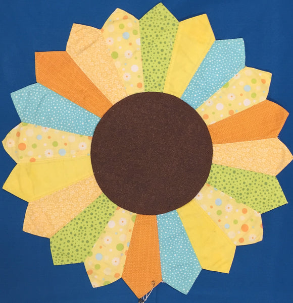 Sunflower Quilted Table Runner made by Brenneman's Quilt & Sew