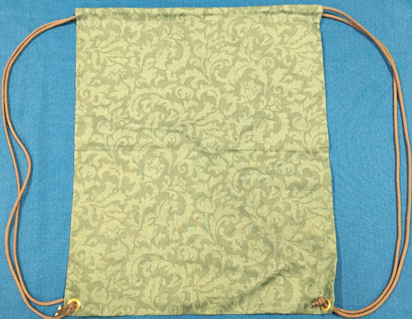 Green Paisley Print Drawstring Gym Bag made by Brenneman's Quilt & Sew