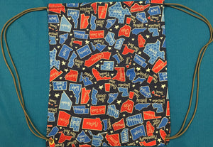 Red White & Blue States -Draw String Gym Bag made by Brenneman's Quilt & Sew
