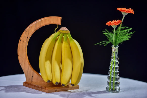 Handmade Wooden Banana Holder - Maple - Millers Wood & Fabric Crafts
