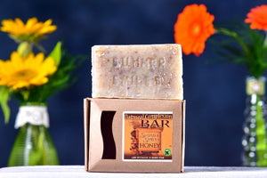 Oatmeal Complexion Bar Soap made by Summer Smiles Honey Farm
