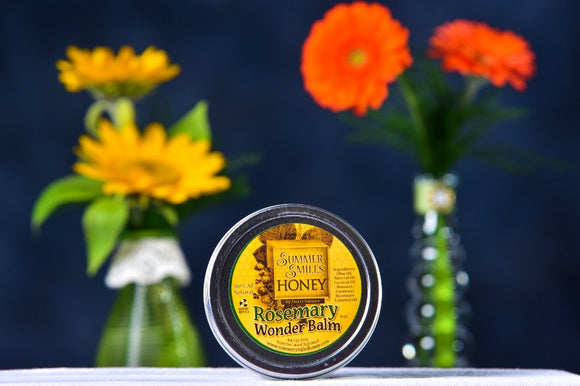 Rosemary Wonder Balm  4 oz. made by Summer Smiles Honey Farm