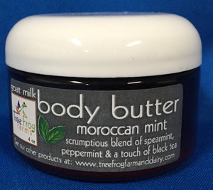 Body Butter made with Goats Milk - Moroccan Mint made by Tree Frog Farm