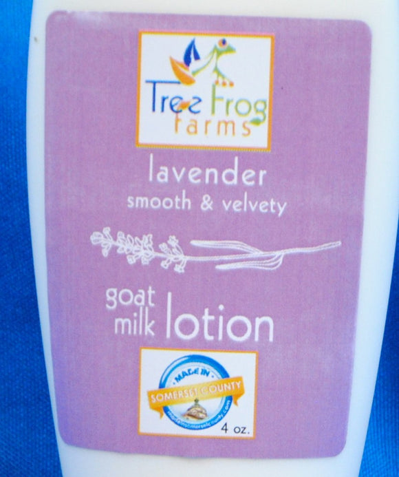 Goats Milk Body Lotion - Lavender Scented - Tree Frog Farm