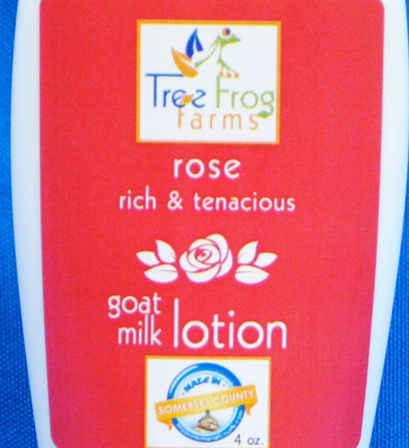 Goats Milk Body Lotion - Rose Scented - Tree Frog Farm