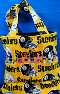 Crayon Tote Bag - Steelers (Yellow) - Millers Wood & Fabric Crafts
