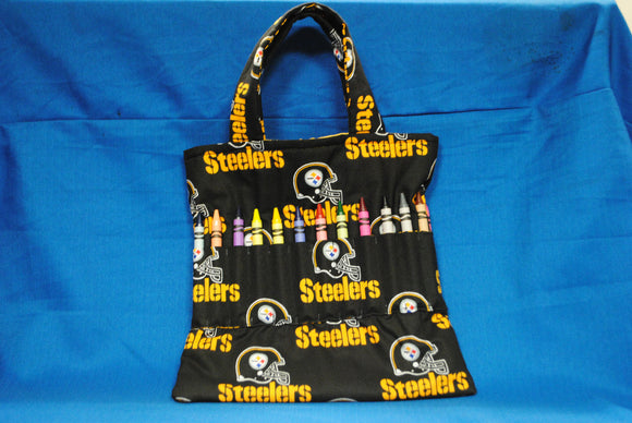 Crayon Tote Bag - Steelers (Black) - Millers Wood & Fabric Crafts