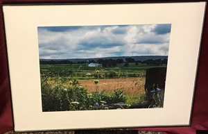 "Framed Photo of ""Scenic view along the Walker School Road"" Photographed by Carol Saylor"