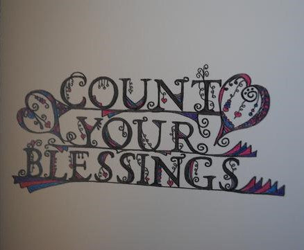Handmade Zenmind Artwork Blank Greeting Card - Count Your Blessings - Kimberly Fagan