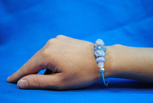 Joy Beadz Bracelet in Pink & Blue