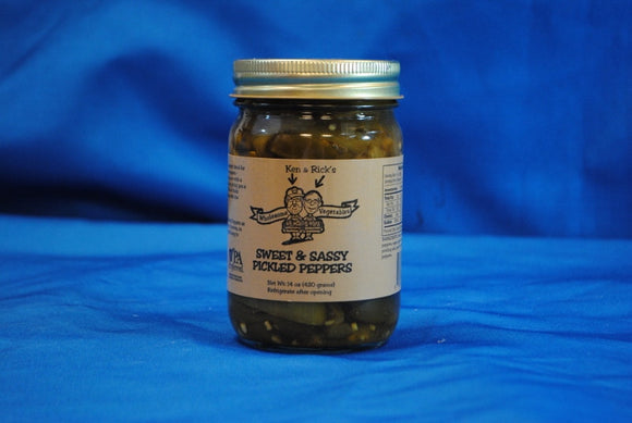 Sweet & Sassy Pickled Peppers 14 oz. - Laurel Vista Farms