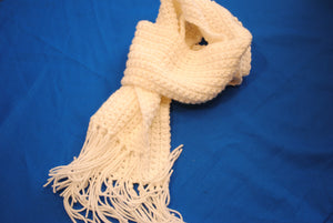 Hand Crafted Scarf in White - Stephanie Randall