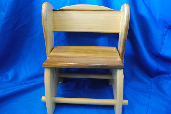Handmade Wooden Step Stool made of Poplar Wood made by Millers Wood & Fabric Crafts