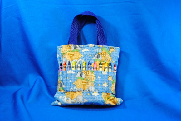 Crayon Tote Bag - Noah's Ark - Millers Wood & Fabric Crafts
