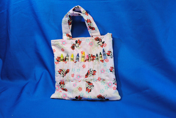 Crayon Tote Bag - Mini Mouse - Millers Wood & Fabric Crafts