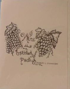 Handmade Zen Mind Artwork Blank Greeting Card - Wine is Bottled Poetry - Kimberly Fagan