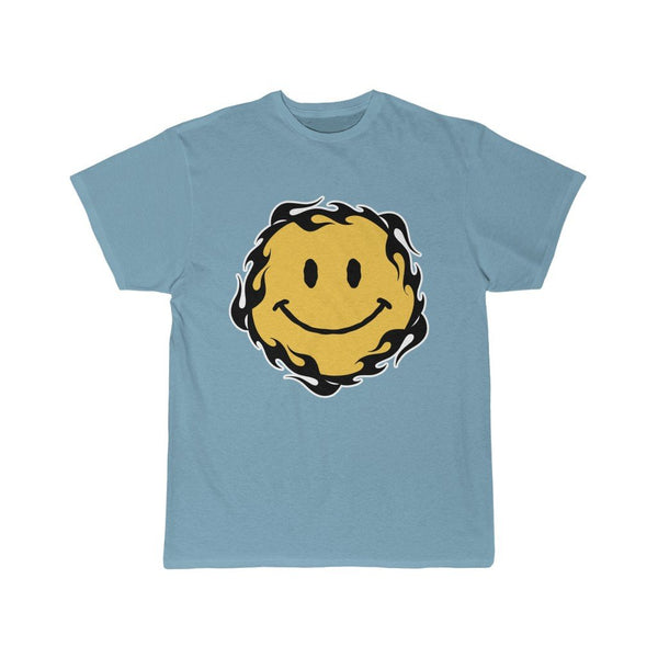 SMILEY FLAMES T-Shirt Printify Sky Blue S