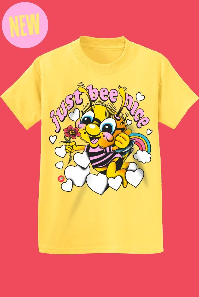 JUST BEE NICE T-Shirts DTG Small LEMON