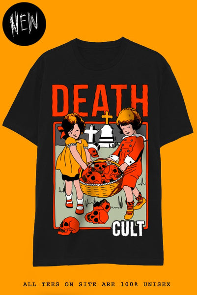 DEATH CULT T-Shirts DTG Small BLACK