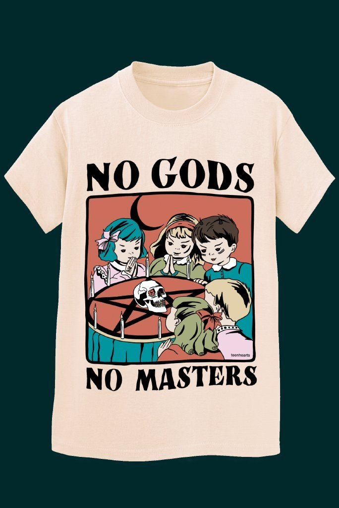 NO GODS NO MASTERS T-Shirts DTG Small Sand