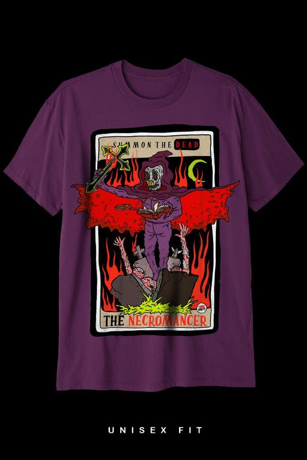 THE NECROMANCER T-Shirt Printify Purple L