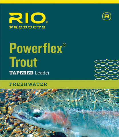 Rio Powerflex Trout Tapered Leader 9ft