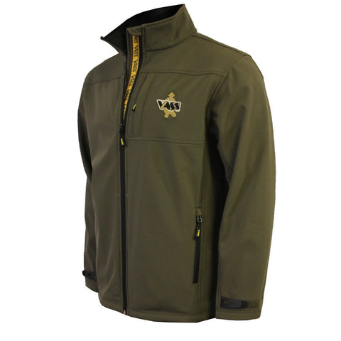 Vass Casualwear Softshell Jacket Khaki Green